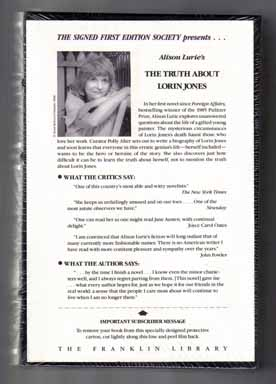 The Truth About Lorin Jones - 1st Edition/1st Printing. Alison Lurie.