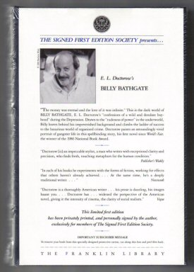 Billy Bathgate - 1st Edition/1st Printing. E. L. Doctorow.