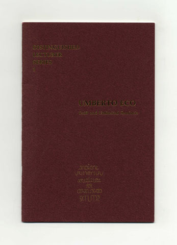 Drift And Unlimited Semiosis - 1st Edition/1st Printing. Umberto Eco.