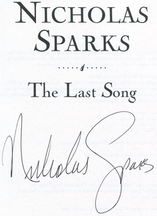 The Last Song - 1st Edition/1st Printing. Nicholas Sparks.