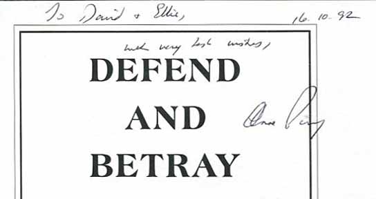 Defend and Betray - 1st Edition/1st Printing. Anne Perry.