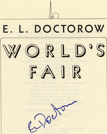 World's Fair - 1st Edition/1st Printing. E. L. Doctorow.