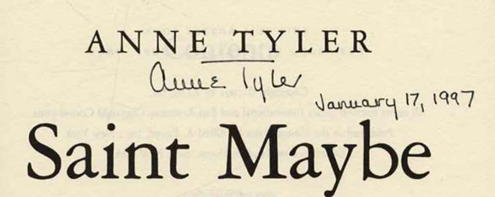 saint maybe by anne tyler Saint maybe [anne tyler] on amazoncom free shipping on qualifying offers  ian bedloe is the ideal teenage son, leading a cheery, apple-pie life with his.