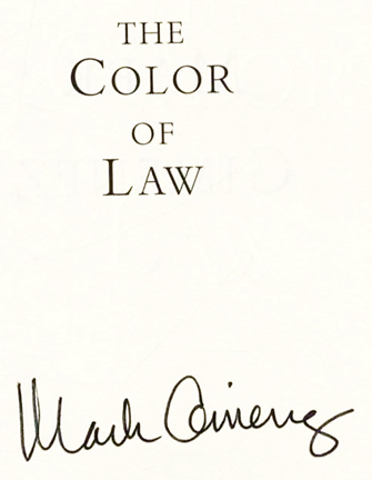The Color Of Law 1st Edition 1st Printing Mark Gimenez Books