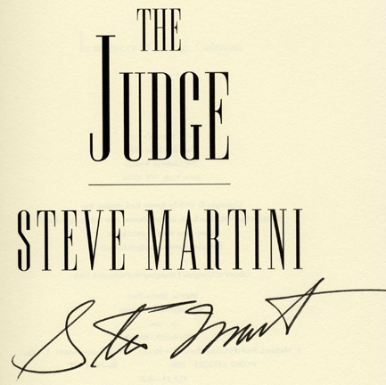 The Judge -1st Edition/1st Printing. Steve Martini.