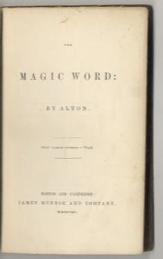 The Magic Word. Alton.