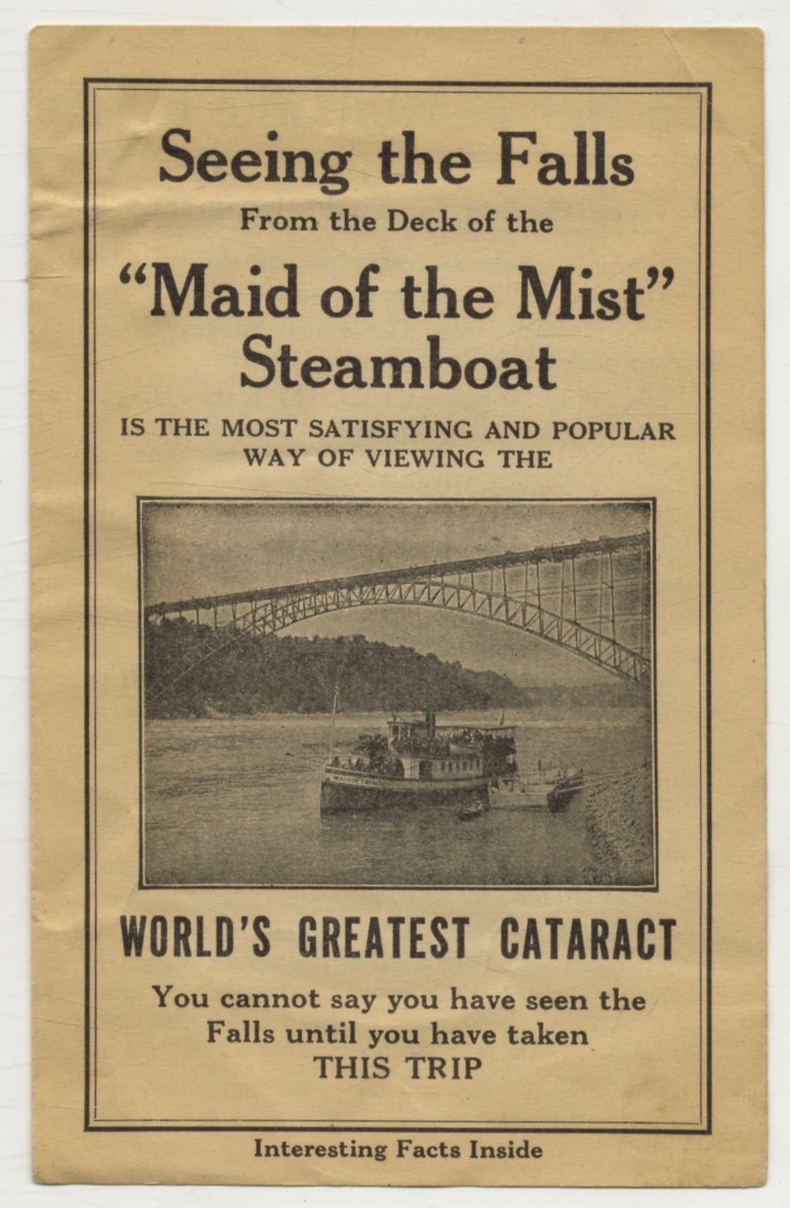 Maid Of The Mist Tour Of Niagara Falls [Advertisement]