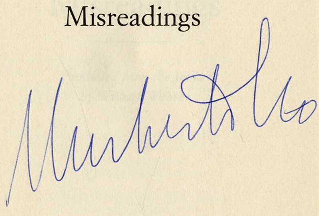 Misreadings - 1st US Edition/1st Printing. Umberto Eco.