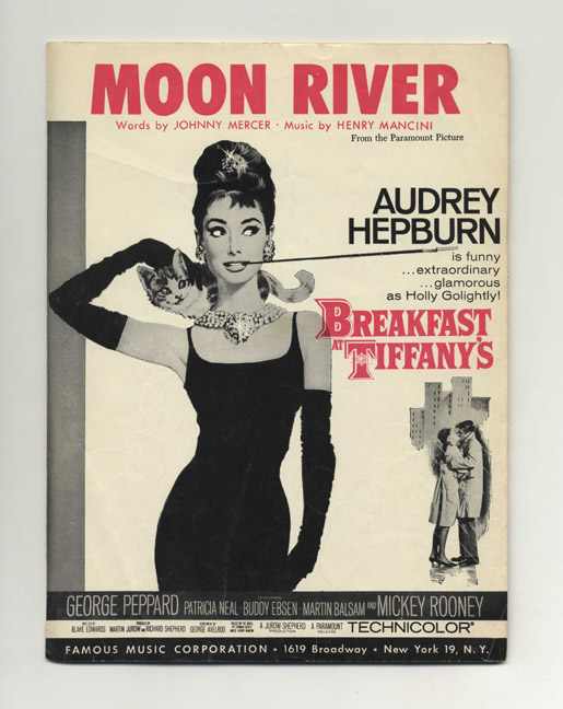 Moon River ; As Sung in the Paramount Picture Breakfast At Tiffany's [By Audrey Hepburn]. Words, Henry Mancini, Music.