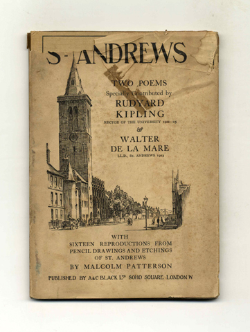 St. Andrews, Two Poems - 1st Edition. Rudyard Kipling.