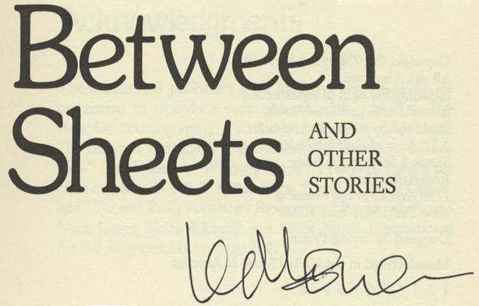 In Between The Sheets - 1st US Edition/1st Printing. Ian McEwan.