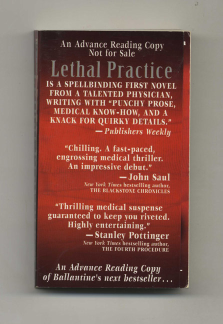Lethal Practice - Advance Reading Copy. Peter Clement.