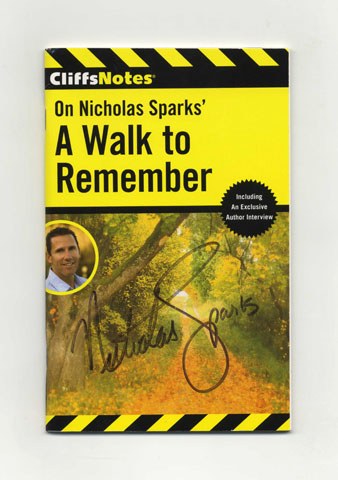 On Nicholas Sparks' A Walk to Remember - 1st Edition/1st Printing. CliffsNotes.