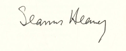 Human Chain - Limited Edition. Seamus Heaney.
