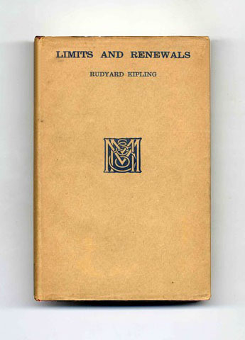 Limits and Renewals - 1st Edition/1st Printing. Rudyard Kipling.