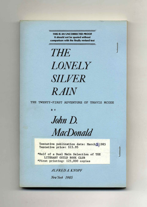 The Lonely Silver Rain. John D. MacDonald.