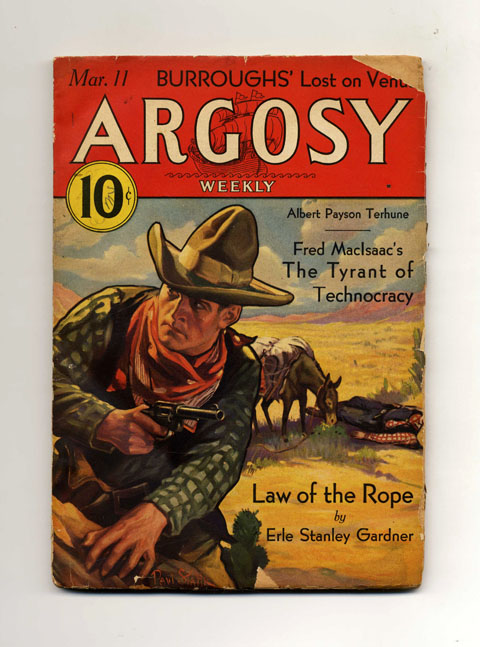 Lost on Venus (Part 2 of 7) [In: Argosy Weekly, Volumbe 236, Number 6]. Edgar Rice Burroughs.