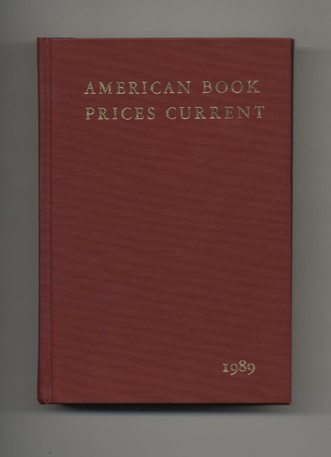 American Book Prices Current 1989