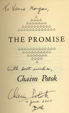 the promise by chaim potok essay In the chosen, chaim potok (pronounced hi em poe talk) describes the condition of american jews living in two cultures, one secular and one religious to a grea.