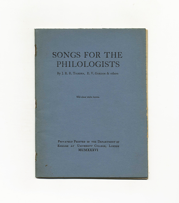 Songs For The Philologists
