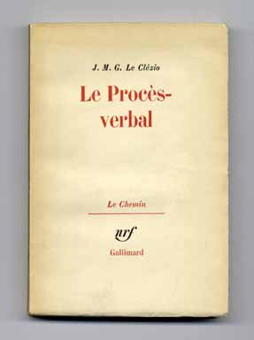 Le Procès - Verbal - 1st Edition/1st Printing