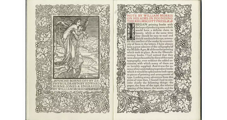 A Note By William Morris On His Aims In Founding The Kelmscott Press; Together With A Short Description Of The Press By S.C. Cockerell, & An Annotated List Of The Books Printed Thereat