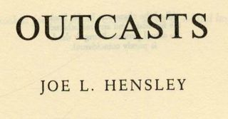 Outcasts - 1st Edition/1st Printing