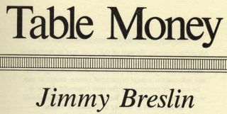 Table Money - 1st Edition/1st Printing
