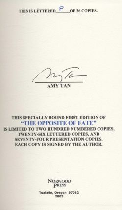 Opposite Of Fate - Signed Lettered Edition