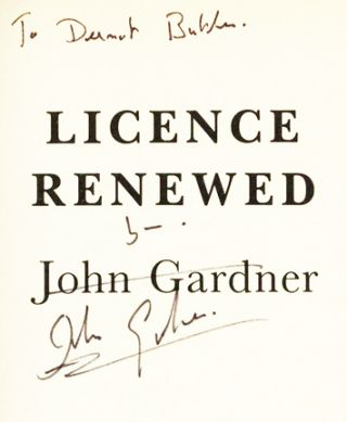 Licence Renewed - 1st Edition/1st Printing