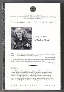 Charley Bland - 1st Edition/1st Printing. Mary Lee Settle