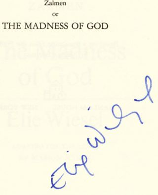 Zalmen, or the Madness of God: a Play - 1st Edition/1st Printing
