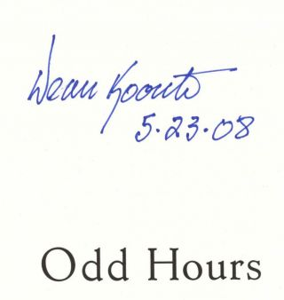 Odd Hours - 1st Edition/1st Printing