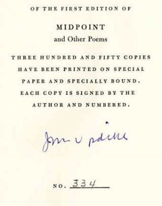 Midpoint And Other Poems - 1st Edition/1st Printing
