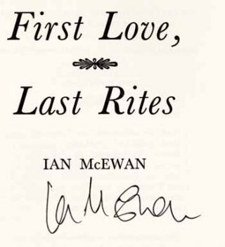 First Love, Last Rites - 1st Edition/1st Printing