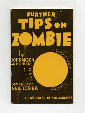 Further Tips on Zombie. Joe Karson