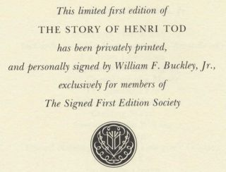 The Story of Henri Tod - 1st Edition/1st Printing