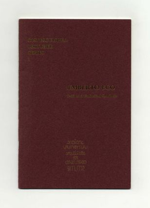 Drift And Unlimited Semiosis - 1st Edition/1st Printing