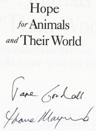 Hope For Animals And Their World - 1st Edition/1st Printing