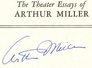 The Theater Essays Of Arthur Miller - 1st Edition/1st Printing. Arthur Miller