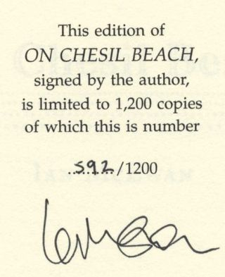 On Chesil Beach - 1st Edition/1st Printing