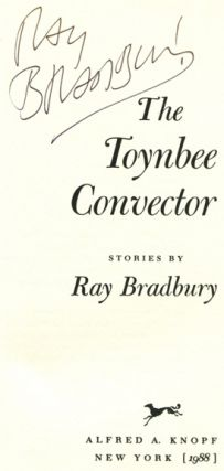 The Toynbee Convector - 1st Edition/1st Printing