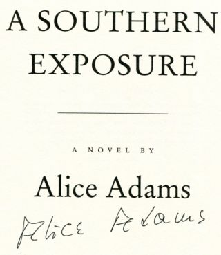A Southern Exposure - 1st Edition/1st Printing