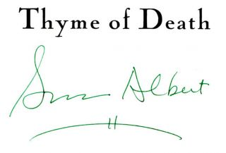 Thyme of Death - 1st Edition/1st Printing