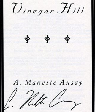 Vinegar Hill - 1st Edition/1st Printing
