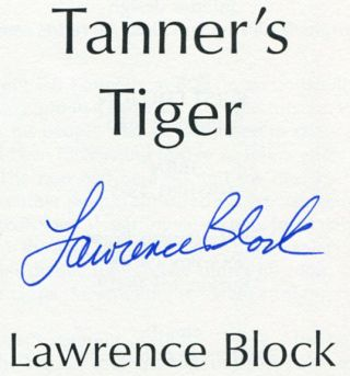 Tanner's Tiger - 1st Edition/1st Printing