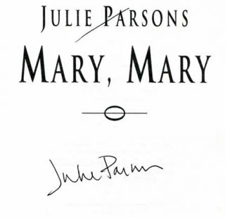 Mary, Mary - 1st UK Edition/1st Printing. Julie Parsons