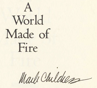 A World Made of Fire - 1st Edition/1st Printing