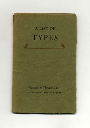 A List Of Types