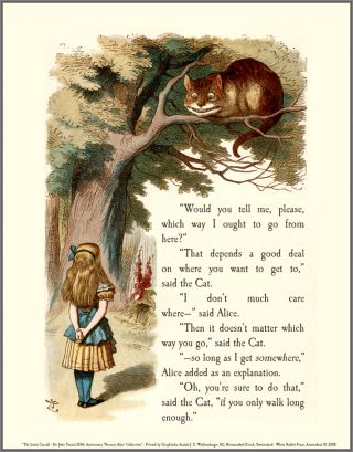 Alice & The Cheshire Cat - Signed and Numbered Limited Edition